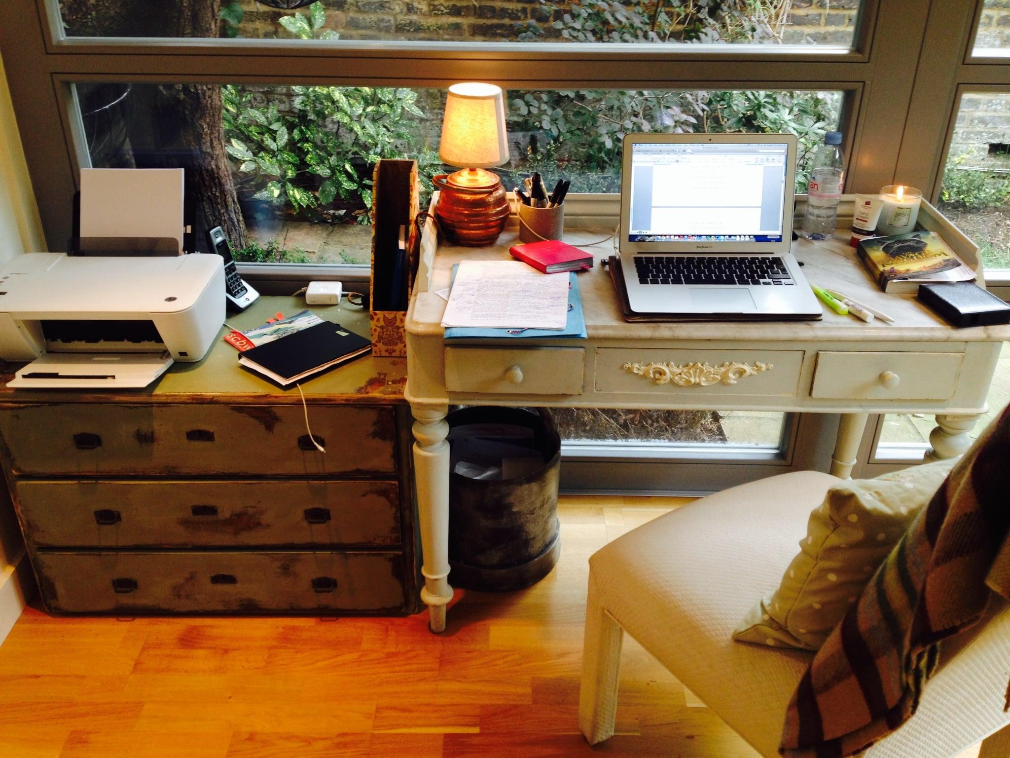 Writing Shed desk